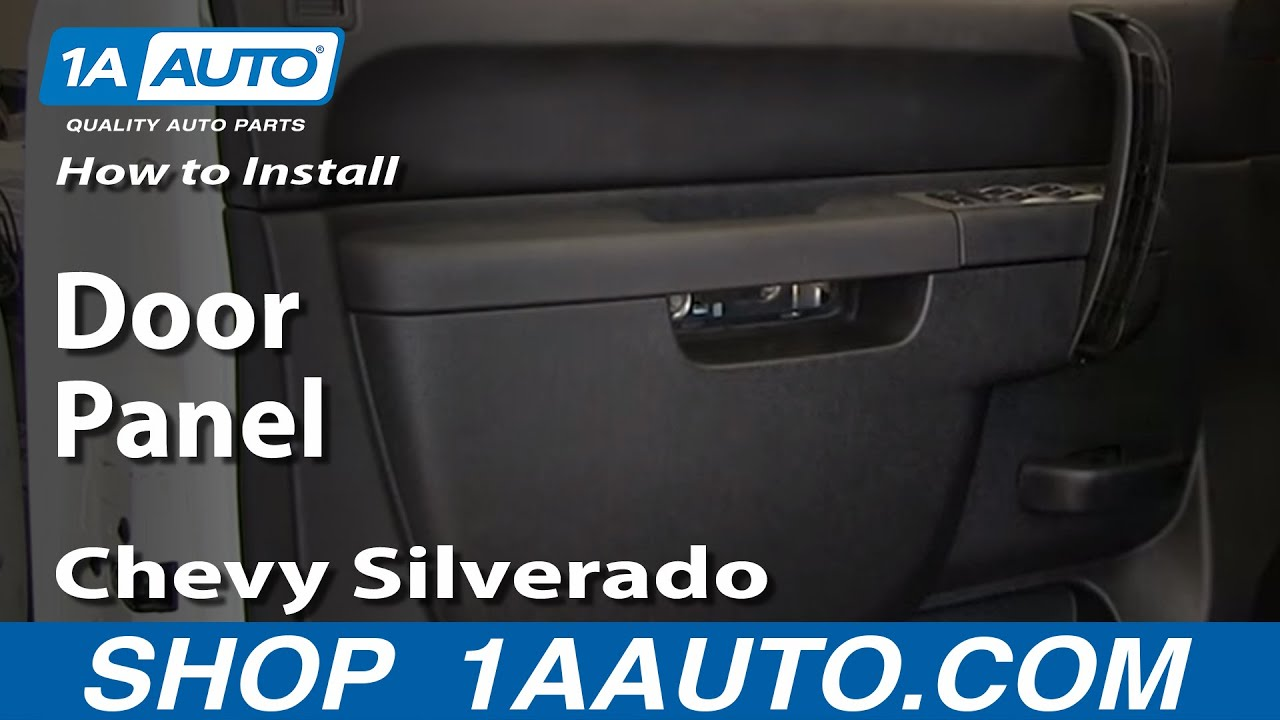 how to remove front door panel 07-13 chevy silverado 1500