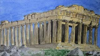 Speed Drawing Parthenon  |  Dibujando el Partenón