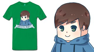 KreekCraft T-Shirts and Merch Now Available! :) thumbnail