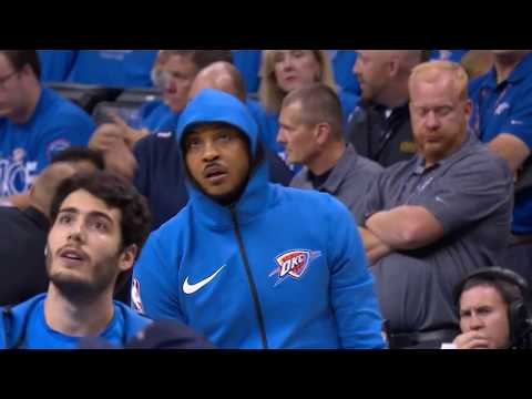 Carmelo Anthony Warmup and Introduction in Oklahoma City Thunder Debut | October 19, 2017