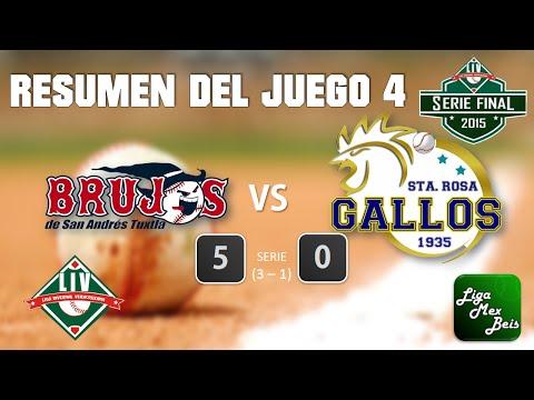 Resumen J4 SerieFinalLIV Brujos de San Andres Vs Gallos de Santa Rosa 21-01-2015