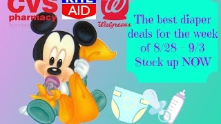 ** UPDATED Video** The Best Diaper Deals $0.99!