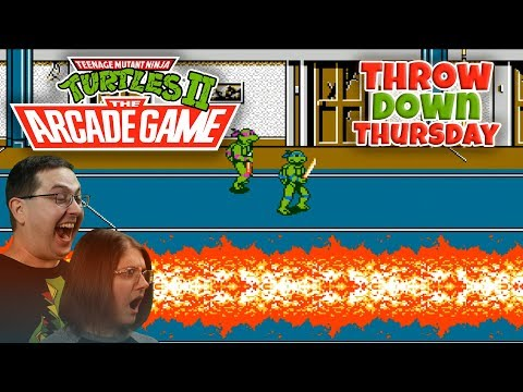 Play Teenage Mutant Ninja Turtles 2 The Arcade Game - THROW DOWN THURSDAYS Eric & Mary Let's Play Part 1