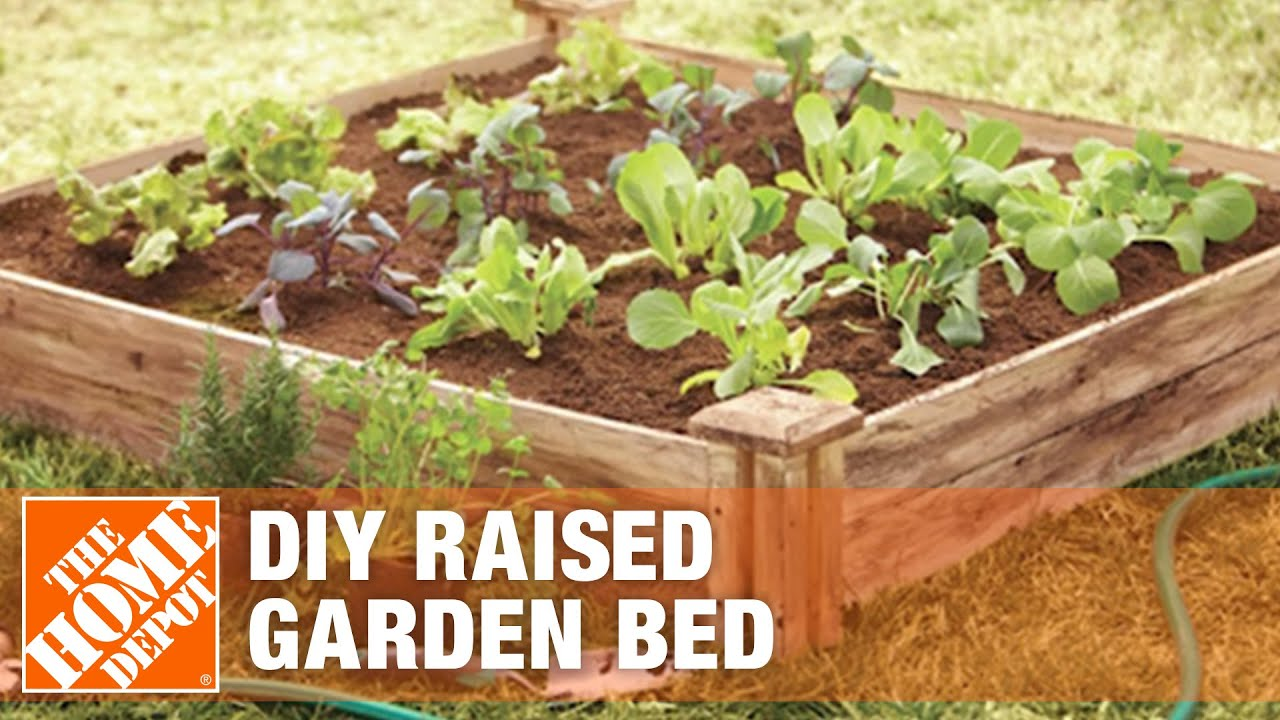 How To Build A Raised Garden Bed Diy Raised Garden Beds The Home Depot Youtube
