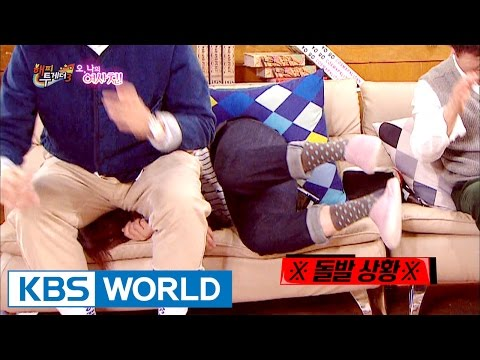 Song Euni & Kim Youngcheol's shocking 'bottom attack' [Happy Together / 2017.02.23]