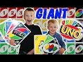 Giant UNO Cards!  ||  Family Game Night  ||  World's Largest UNO with Family Fun Pack
