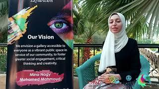 ورش معرض أرت فيجن - Art Vision Exhibition الأسبوع الثالث للفنانة/ ياسمين خالد