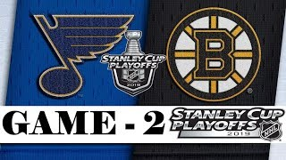 St. Louis Blues Vs Boston Bruins  Final  Game 2  May.29 2019  Stanley Cup 2019  Обзор матча