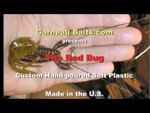 garneau baits the bed bug hand-poured soft plastic bait - youtube, Soft Baits