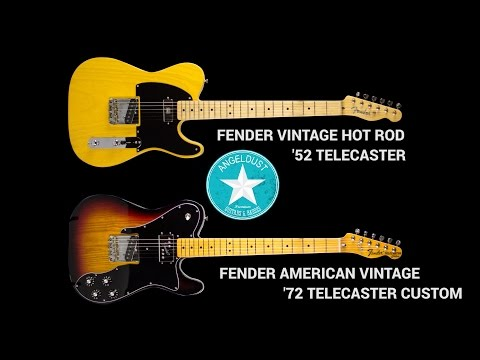 Fender Telecaster Comparison: '52 Hot Rod VS '72 Custom American Vintage Review