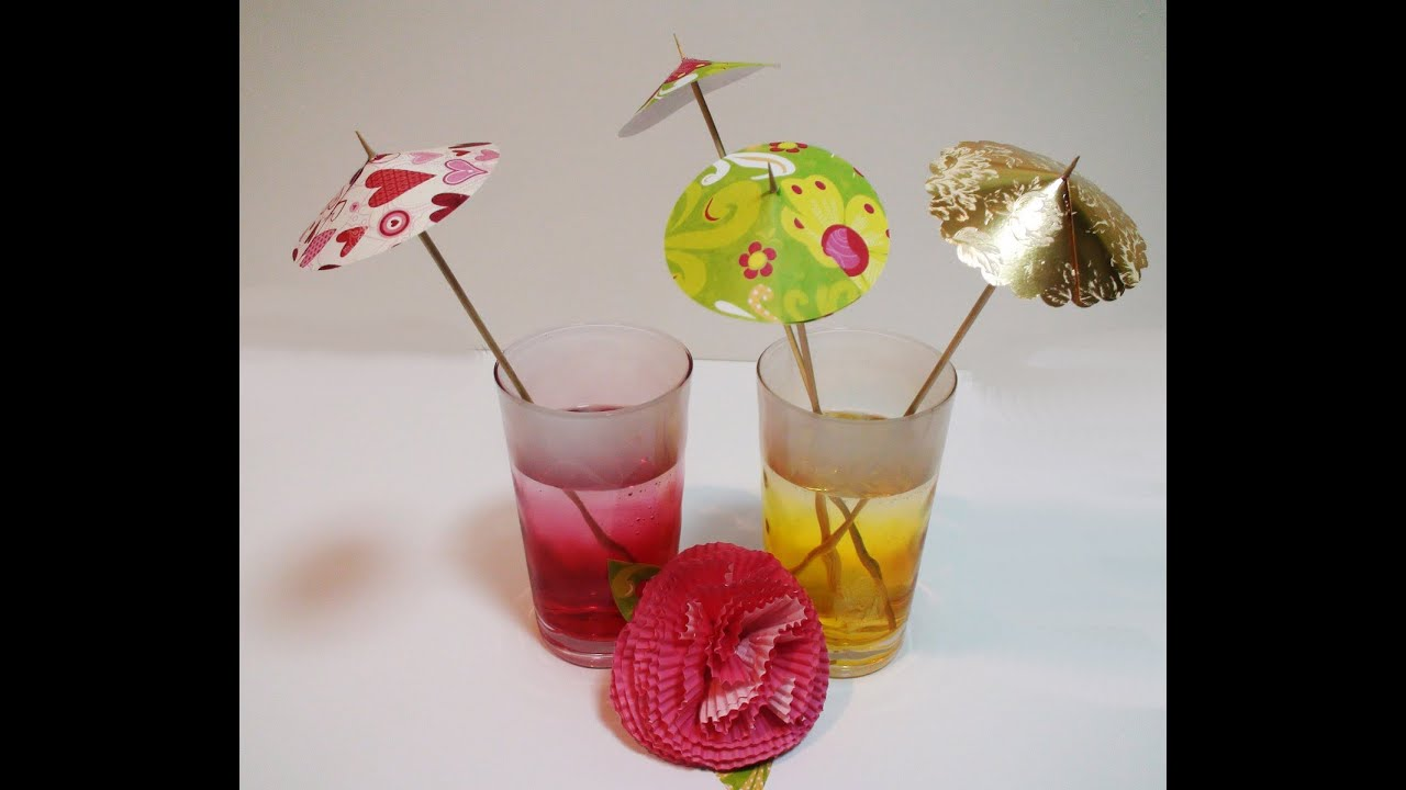 DIY How To Make Easy Drink Umbrellas For Your Party