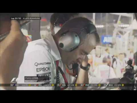 Lewis Hamilton & Paddy Lowe Teamradio Abu Dhabi 2016 (GERMAN TV)