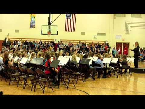 Columbia Intermediate School 6th Grade Beginning Band Concert 11-12-12