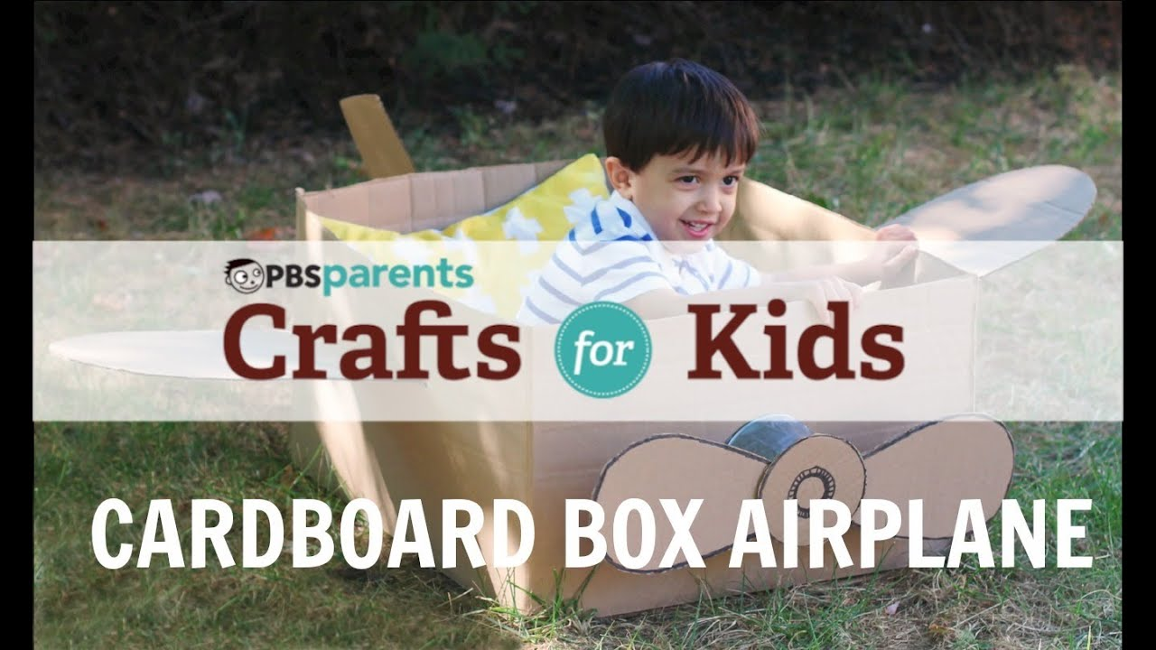 Cardboard box airplane crafts for kids pbs parents youtube solutioingenieria Images