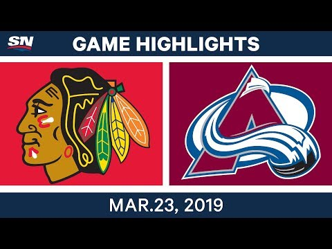 NHL Game Highlights | Blackhawks vs. Avalanche - March 23, 2019