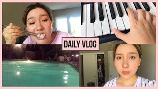 소소한 미국 일상 브이로그 : 피아노 치고 수영한 날