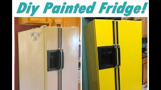 How To Paint A Refrigerator DIY