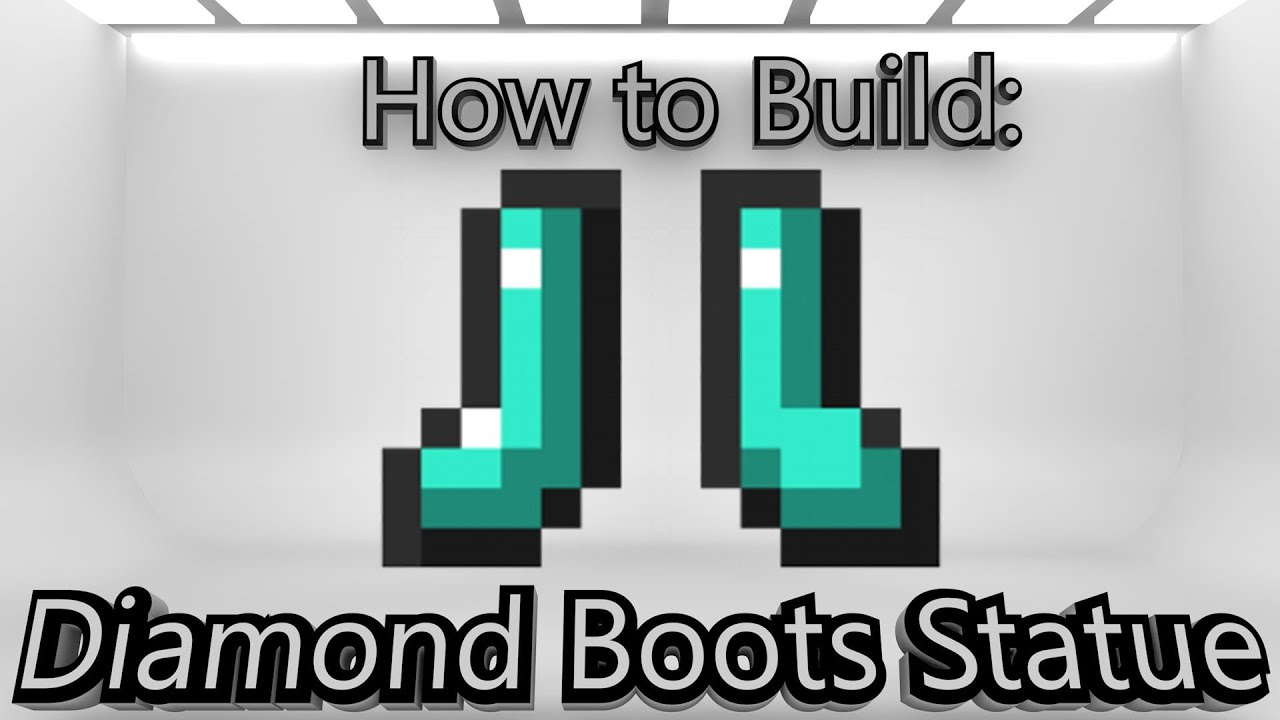 Minecraft: How To Make A Diamond Boots Statue - YouTube
