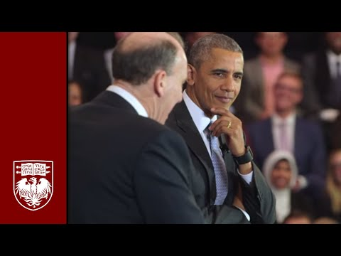 Highlights from President Obama's visit to the University of Chicago Law School