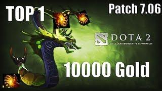 DoTa 2 How To Jungle Venomancer 10.000 gold Patch 7.06