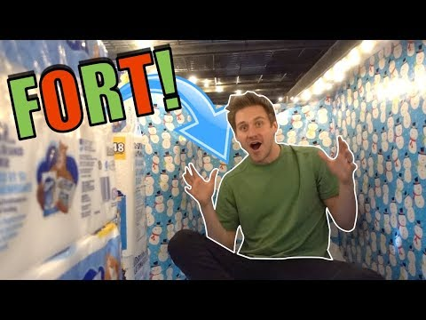 WRAPPING PAPER TOILET PAPER FORT!