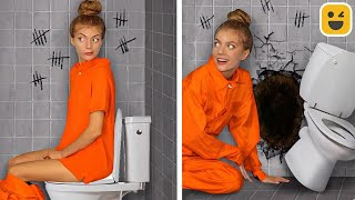 ESCAPING FROM JAIL! Fuฑny Situations in Prison & DIY Ideas by Mr Degree