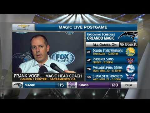 Frank Vogel -- Orlando Magic at Sacramento Kings 03/13/2017