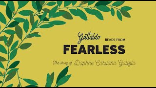 Gattaldo Reads From Fearless: The Story of Daphne Caruana Galizia