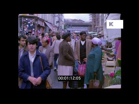 Portobello Road 1980, Black British, West London, HD from 35mm