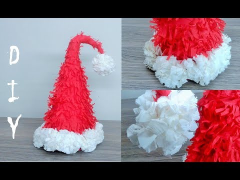 How to make a Santa hat - DIY Christmas craft Ideas