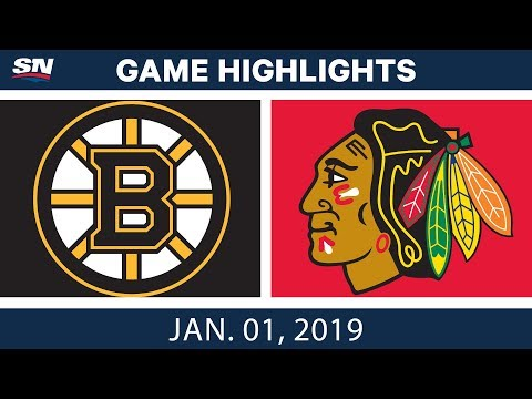 NHL Highlights | Bruins vs. Blackhawks - Jan. 1, 2019