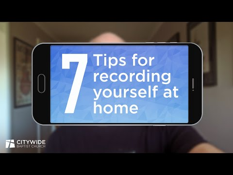 7 tips for recording yourself at home