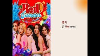 Red Velvet - Red Flavor Lyrics Video for Korean Learners Mp3