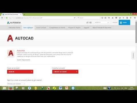 How to download Autocad 2018 , 2017 Student Version officially