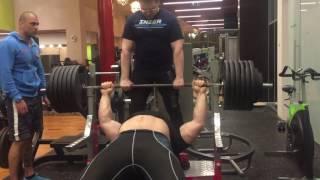 Kirill Sarychev, 290kg/638lbs x 4, bench press, raw