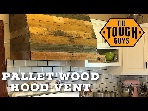 How to Build a Farmhouse Hood Vent with Salvaged Wood!