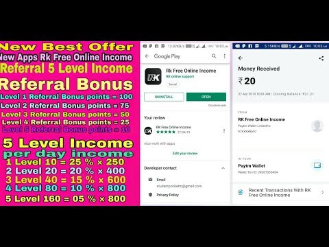 (big loot) unlimited Paytm cash 5 level income [New Apps Rk Free Online ...