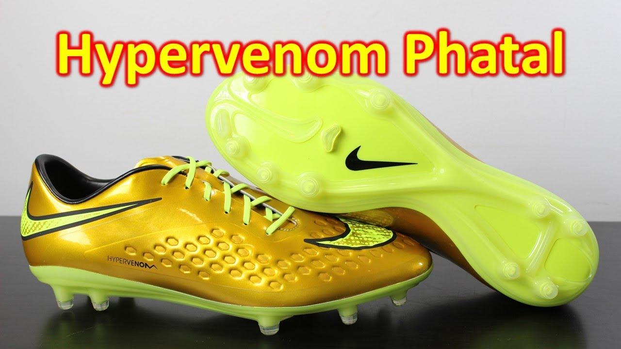 nouveaux styles d883f 9363f Neymar Nike Hypervenom Phatal Premium Metallic Gold Coin/Volt - Unboxing +  On Feet