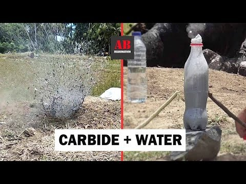 Test Explosion Reaction -CARBIDE-  Versus -WATER-