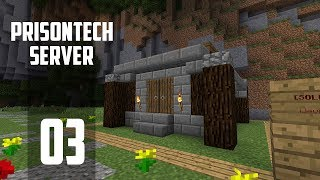 Minecraft Prison - Ep 3: PLOT BULD! (PrisonTech Let's Play) #sponsored