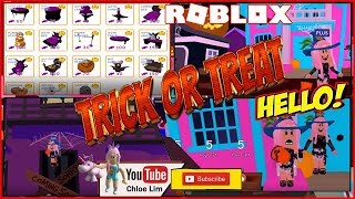 🎃 Roblox MeepCity! TRICK OR TREATING & buying all the new Halloween Limited Furniture! Loud Warning!