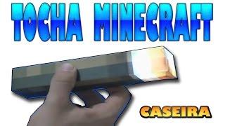 Como Fazer Réplica - Tocha do Minecraft Caseira (paper craft)