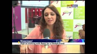 Nauheed Cyrusi in Chd to promote a utility brand