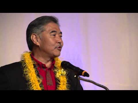David Ige speaks to the Democratic State Convention