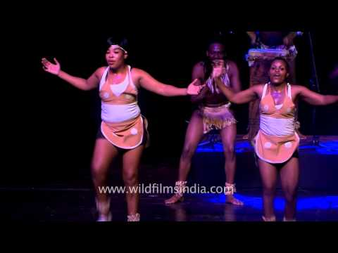 Umkhonto we Sizwe from South Africa dances and sings for India
