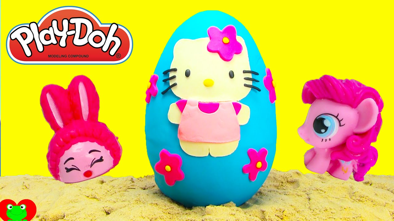 fd229d876 Hello Kitty Play Doh Surprise Egg with My Little Pony and Shopkins ...