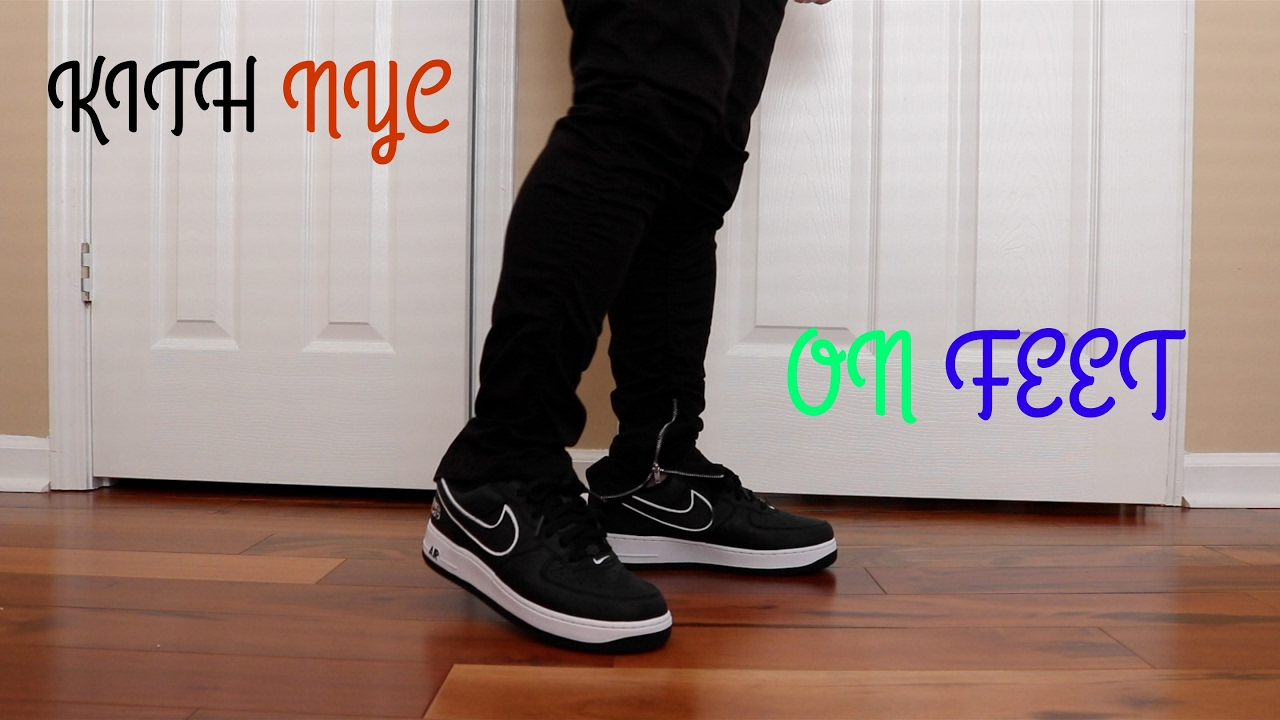 7d91f885af2511 Nike air force 1 NYC kith on feet - YouTube