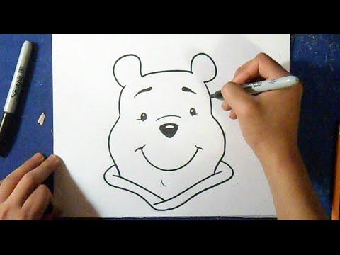 Cómo dibujar a Winnie Pooh | How to draw Winnie pooh - YouTube