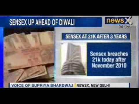 Sensex rises over 21,000 for the first time in 3 years - NewsX