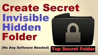 How to Hide Private Files and Folder on Windows PC (Create Hidden Files without Any Software)